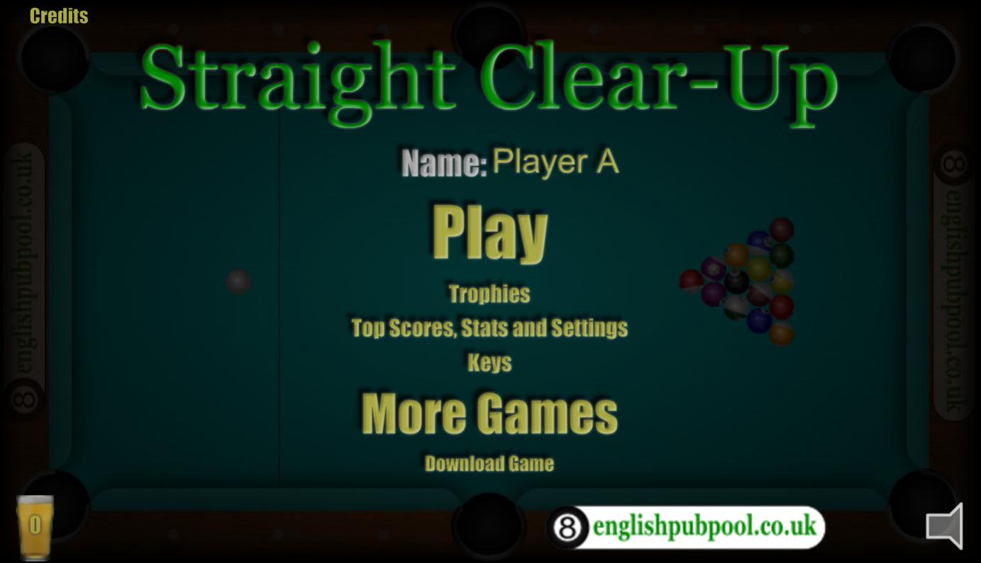 Straigth: clear-up  (Biliardas)